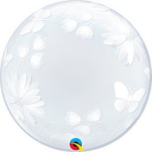 20''M.BUTTERFLIES&FLOWERS BUBBLES