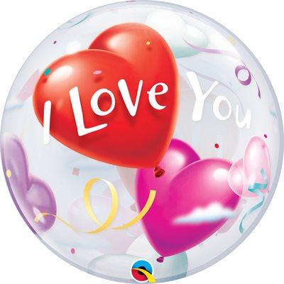 B.22'' I LOVE YOU HEART BUBBLES