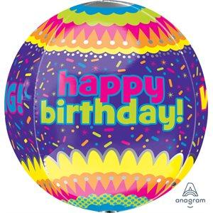 "15""M. HAPPY BIRTHDAY CONFETTI ORBZ"
