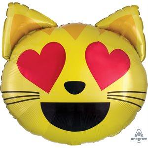 22'' M. EMOTICON CAT LOVE H / S