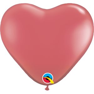 "11""B. JEWEL RED HEART-QUALATEX"