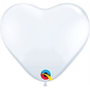 "11"" HEART WHITE QUA"