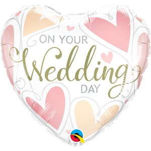 """18"""" M. ON YOUR WEDDING DAY HEARTS"""
